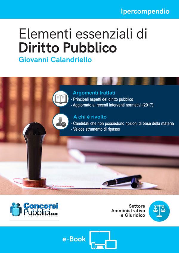 Elementi essenziali di Diritto Pubblico
