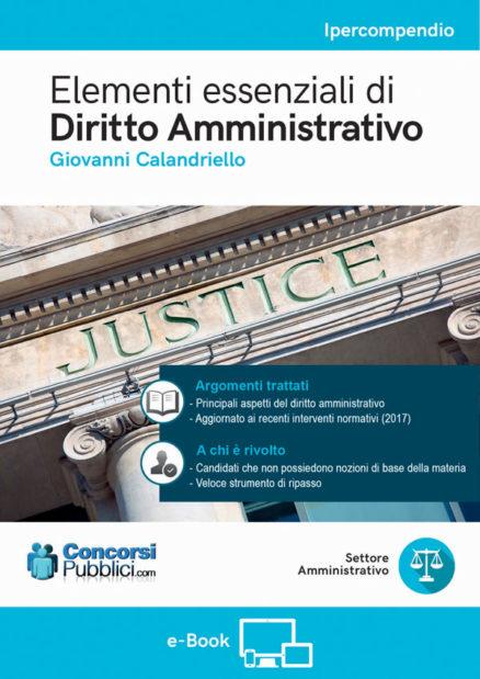 Elementi essenziali di diritto amministrativo, copertina