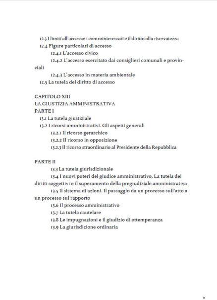 indice fondamenti del diritto amministrativo di Laura Santoni