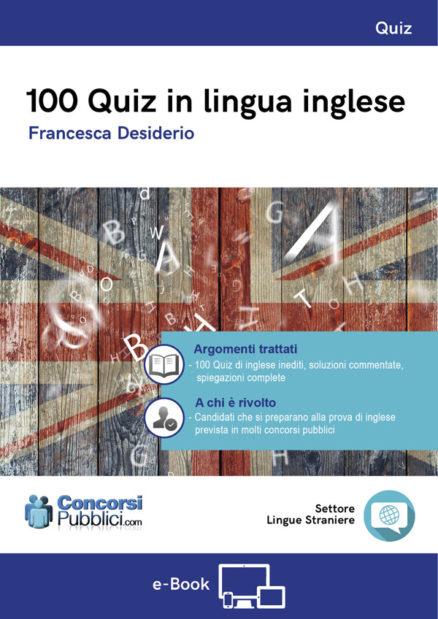100 quiz in lingua inglese