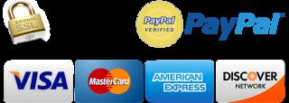 pagamento sicuro tramite paypal o carta di credito