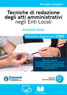 Tecniche di redazione degli atti amministrativi negli enti locali, copertina